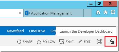 SharePoint Developer Dashboard aktivieren