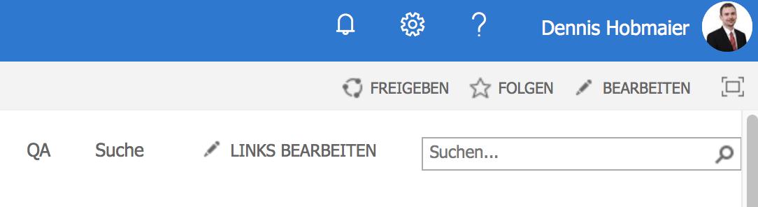 Suchleiste mit Suchcenter verbinden