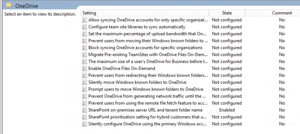 OneDrive (NGSC) per Gruppenrichtlinie konfigurieren