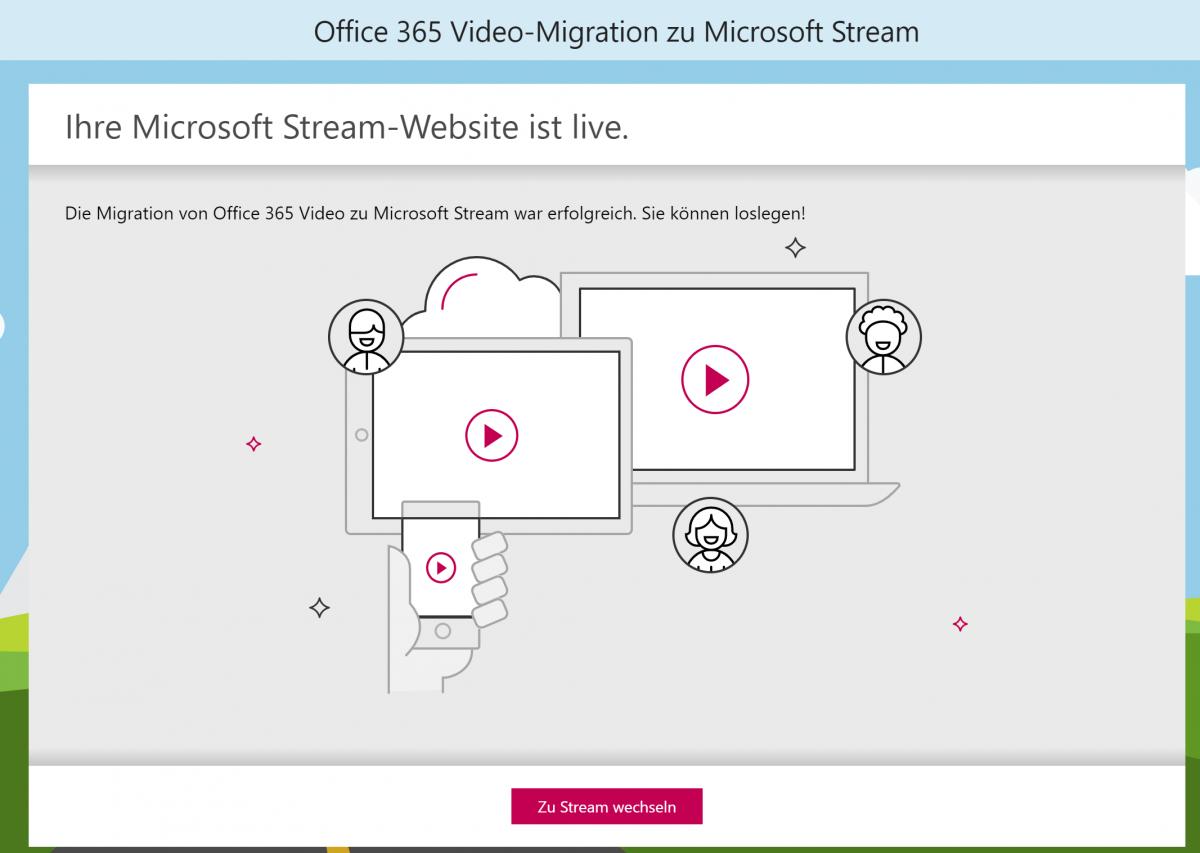 Migration von Video nach Stream