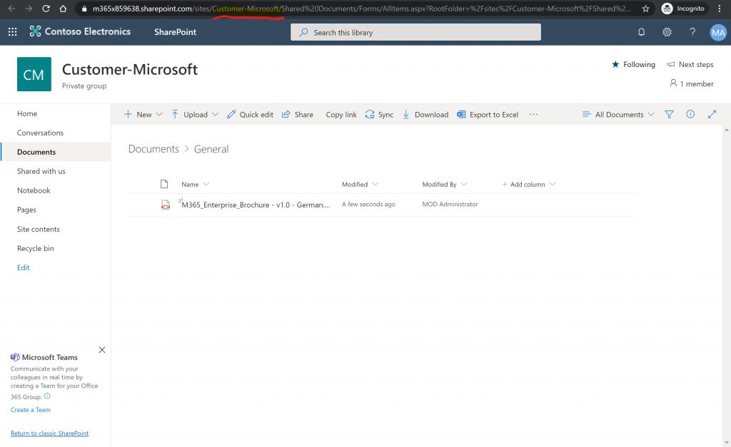 SharePoint URL Team
